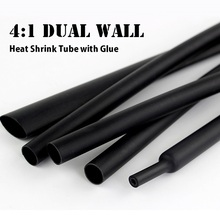 4mm to 32mm  4:1 Heat Shrink Tubing with Glue Adhesive Lined Dual Wall Waterproof Insulation Sleeving  Wrap Wire Cable kit