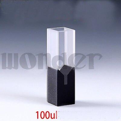 100ul 10mm Path Length Sub-Micro JGS1 Quartz Cell With Black Walls And Lid100ul 10mm Path Length Sub-Micro JGS1 Quartz Cell With Black Walls And Lid