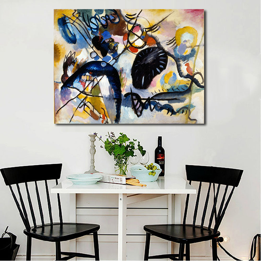 JQHYART Wassily Kandinsky Oil Painting Canvas Art Paintings For ...