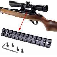 Tactical Ruger 1022 10 22 10/22 Basso Profilo See-Through Del Tessitore Picatinny Rail Mount 11 slot Red Dot Scope Mirino Reflex montaggio