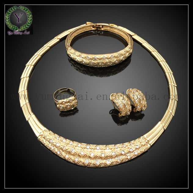 Special Design Fashion Costume Jewelry SetElegant Dubai White Gold