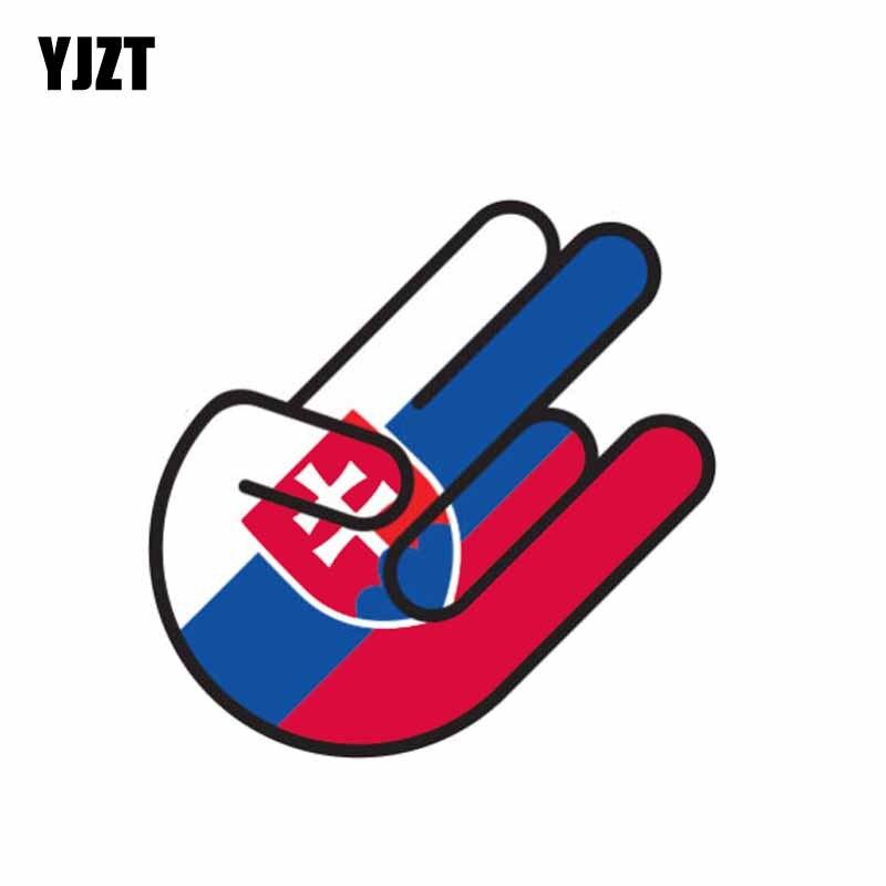 YJZT 10.4CM*6.8CM Creative Flag Slovakia Car Sticker Shocker Decal Accessories 6-1062