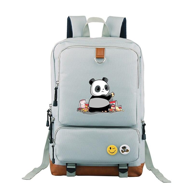 Panda Backpack Funny Cartoon Dabbing For Teens Boys Kids Book Bag Children School Bags Men Women backpack luxury backpack