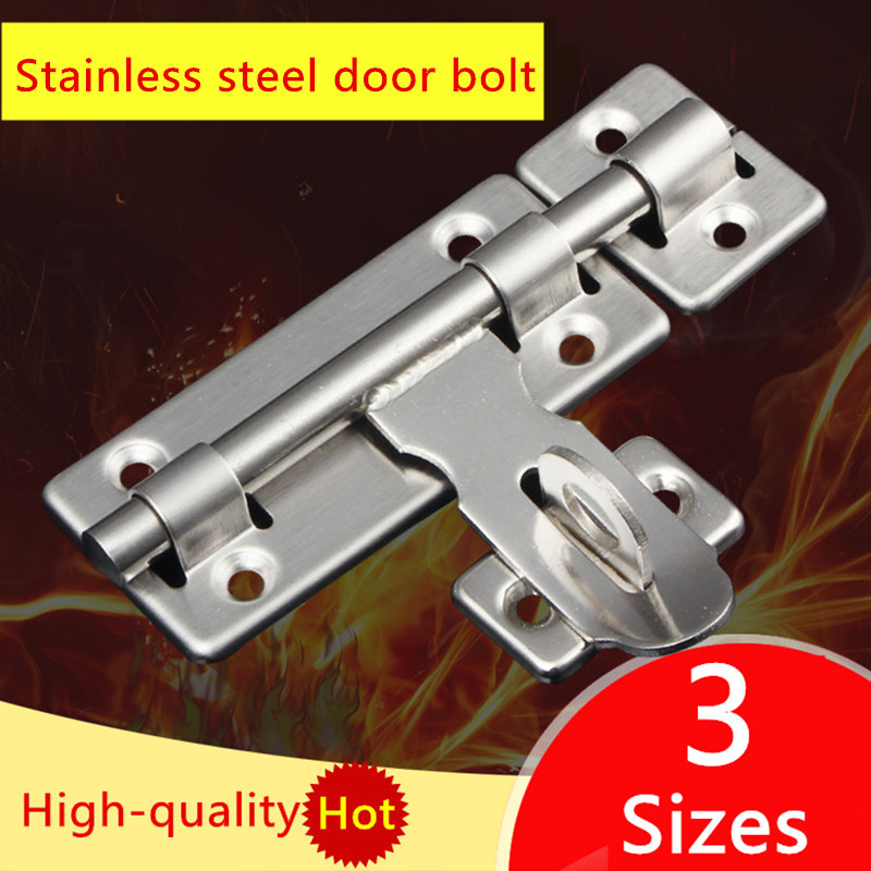 1x Door Latch Barrel Bolt Stapler Cabinet Cupboard Wardrobe Lock Stainless Steel
