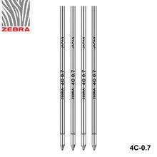 10 stücke Japan ZEBRA Zebra BR 8A 4C 0,7 Metall Ball Refill 0,7mm und Mitsubishi SE 7 Allgemeine 67mm Lange