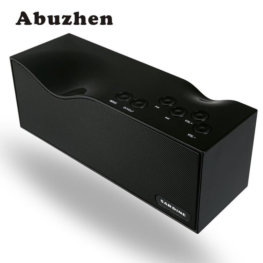 1e6757436b6e Abuzhen Altoparlanti Bluetooth Portatile TF Card USB Radio FM Stereo Mini  Altoparlante Senza Fili con MICROFONO per iPhone Samsung MP4 MP3 Tablet