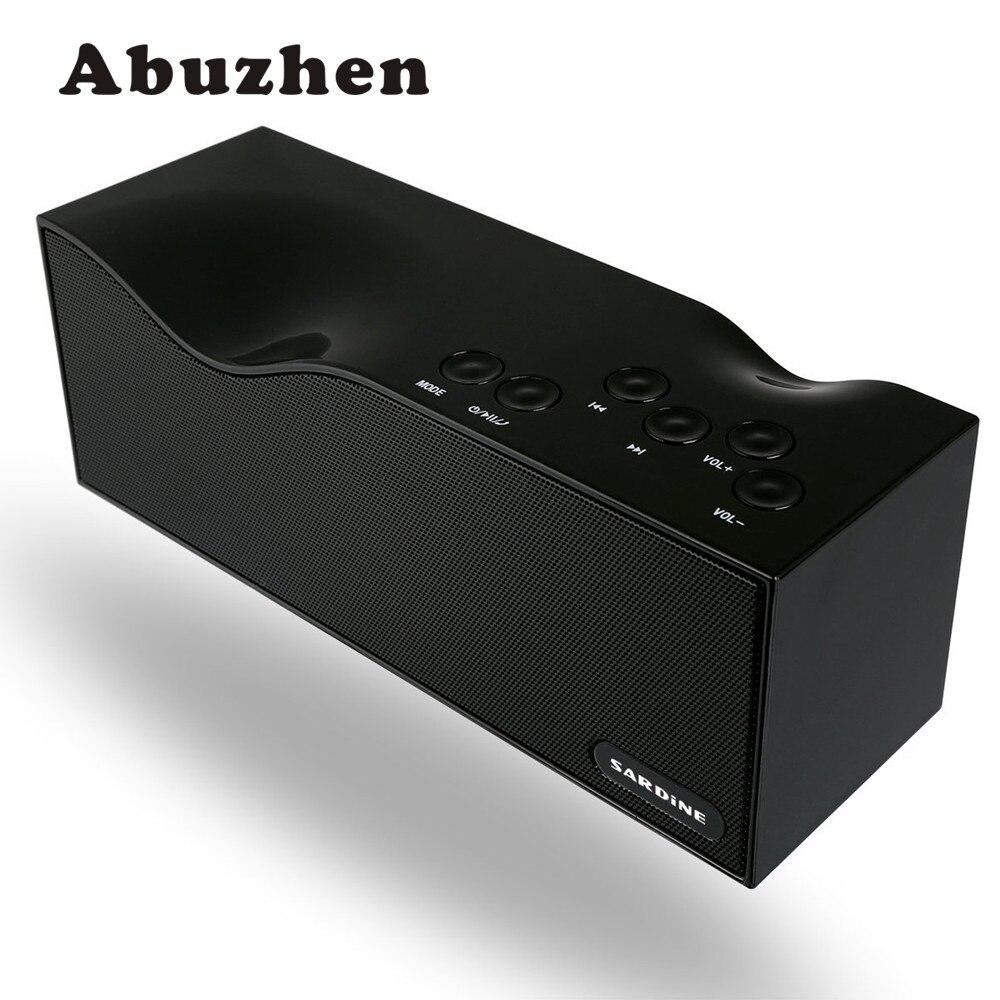 Abuzhen Portabel Bluetooth Speaker Kartu Tf Usb Fm Radio Kabel Listrik 2x15 Mini 40 Meter Stereo Nirkabel Dengan Mic Untuk Iphone Samsung Mp4 Mp3 Tablet