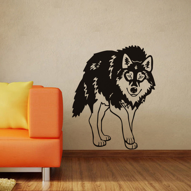 Animals Decoration Stickers Wolf Wall For Kids Vinyl Removable Decals Nursery Decor