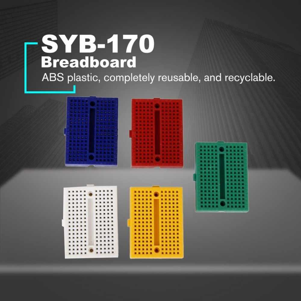 SYB-170 Mini Couleur Sans Soudure Prototype platine de prototypage Protoboard PCB Universel Circuit Panneau D'essai outils de bricolage Réutilisable Planche À Pain