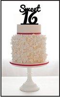 Персонализированные день рождения Топпер на торт с сладкий Дизайн, любой номер день рождения торт Топпер, Baby Shower первый День рождения аксес...