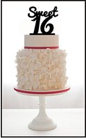 Personalizzato Compleanno Cake Topper con il Disegno Dolce, qualsiasi Numero Di Compleanno Cake Topper, Baby Shower Prima Festa Di Compleanno Accessorio
