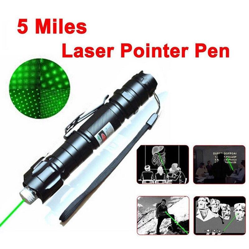 532 nm láser verde de visión puntero láser potente dispositivo de enfoque ajustable láser, alta calidad