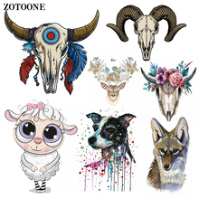 ZOTOONE Sheep Head Iron on Transfer Patches Clothing Diy Patch Heat for Clothes Decoration Stickers Accessories G