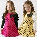 Осень весна дети одежда девочки узор в горошек платье длинная - рукав младенцы дети одежда девочки принцесса платье