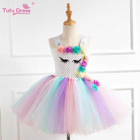 Tutu Dresses for Girl Party Dress Carnival Baby Girls Unicorn Costume Kids Dresses For Children Evening Birthday Dresses 3-10 T Multan