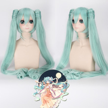 цена на Hatsune Miku Wig Hot Anime Game Music Long Straight Curly Cosplay Gradient Hair Costume Wigs Wavy Halloween Cosplay Daily Party