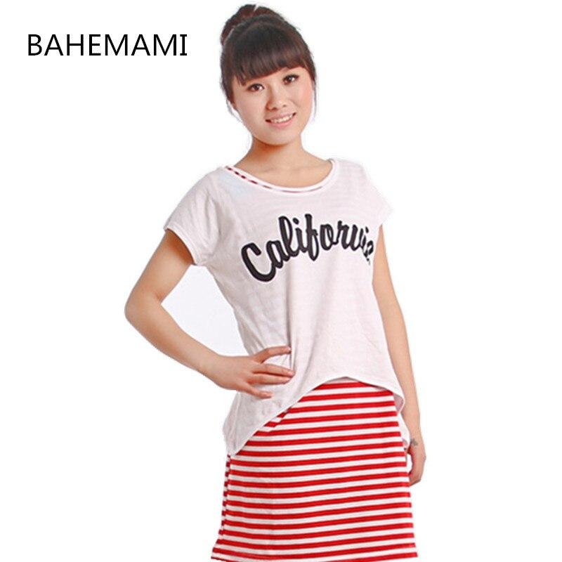 BAHEMAMI Pregnant Women Summer Set Dress Striped Dresses Breastfeeding And Nursing Women Dresses Women's Tops Vestidos