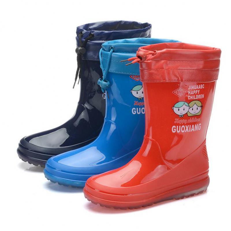 New Children Rainboots Rubber PVC Waterproof Boots Girls Boys Designer Kids Shoes Brand All Seasons Outdoor Rain Boots(Big Kid)