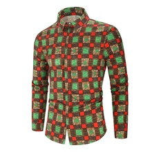 Dress Shirts Hawaiian Male Summer-Pattern Plus-Size Fit Casual
