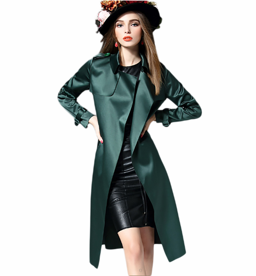 Flying ROC 2018 women long plus size coat high quality fashion women korea style elegant femme outwear new arrival latest design in Trench from Women 39 s Clothing