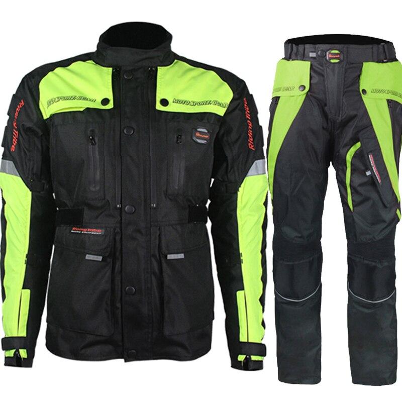 Moto крест костюм для верховой езды племя rcycle гоночный костюм водостойкий moto куртка для ралли брюки с вкладышем протекторы S33