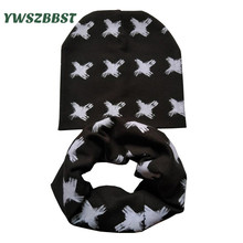 Baby Hat Scarf set 2017 New Fashion Beard Glasses Boy Girl Kids Children Collars + Warm Cap Beanies 2pcs