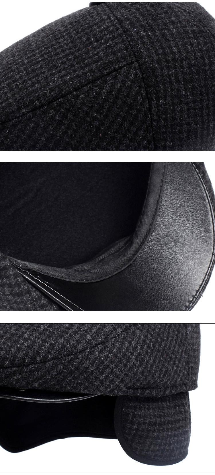 EAGLEBORN Men's Cotton Plaid Beret Caps