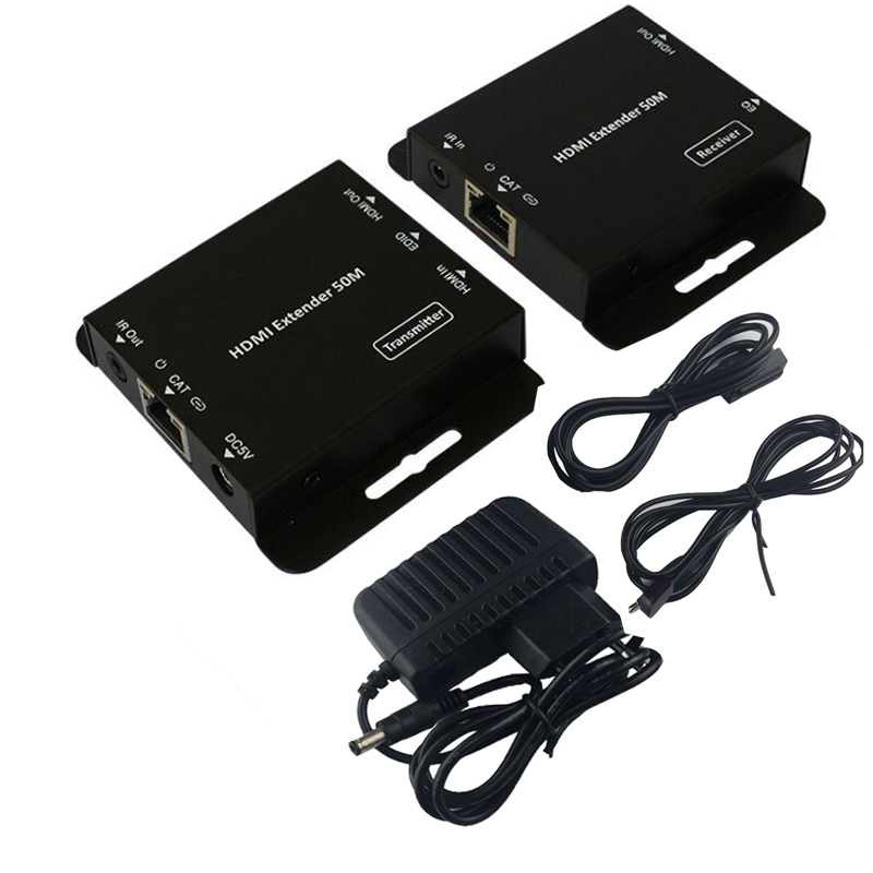 HDmatters HDMI extender by cat5e/6 cable up to 50M for PS4 HDTV PC laptop with power adapter