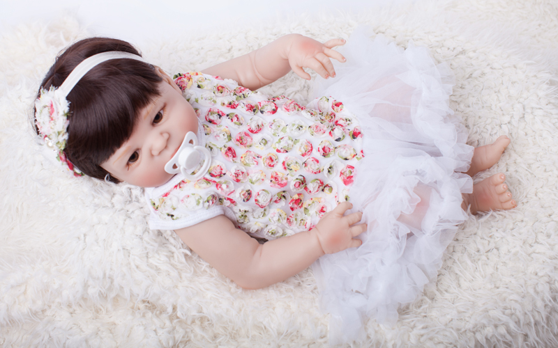 Full Body Silicone Reborn Baby Doll Toy 55cm Baby-Reborn Babies Dolls Lifelike Child Birthday Present Christmas Gift Play Hous