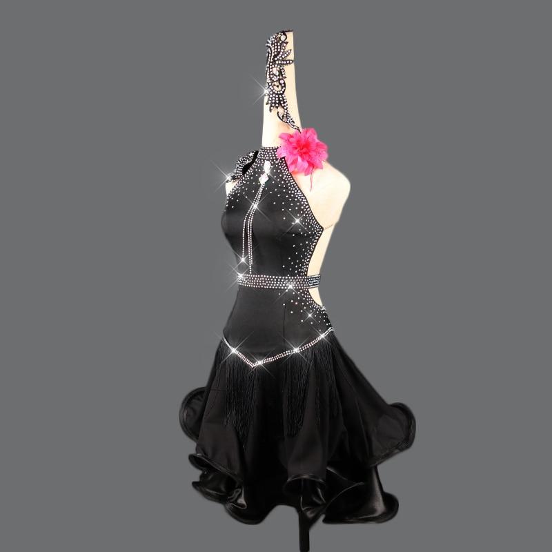 2019 Latin Dance Dress Women Cha Cha/Rumba/Samba/Tango/Ballroom Dance Skirt Sexy Plus Size Club Latin Dancing Costumes  VDB118