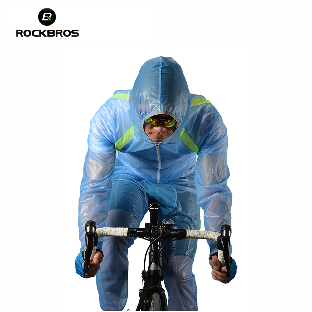 ROCKBROS Outdoor Riding Mountain Bicycle Cycling Raincoat Breathable Compressed Windshield Waterproof Raincoat Cycling Clothing