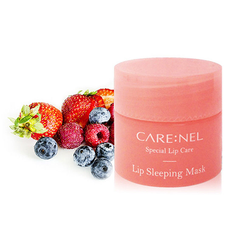 Korea Cosmetic CARENEL Lip Sleeping Mask 5g Lip Care Moisturizing Mask Hydrating Exfoliator Lips Balm Skin Care city shop ncs107 horse oil repair lip balm 1 5g
