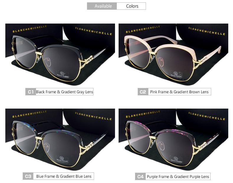 HTB1P13ijoUIL1JjSZFrq6z3xFXaE - Blanche Michelle 2018 High Quality Square Polarized Sunglasses Women Brand Designer UV400 Sun Glasses Gradient Sunglass With Box