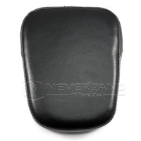 Neverland Motorcycle Universal Sissy Bar Backrest Cushion Pad For Harley Chopper Cruiser Black Rectangle D35