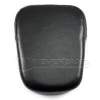 Neverland Motorcycle Universal Sissy Bar Backrest Cushion Pad For Harley Chopper Cruiser Black Rectangle D35