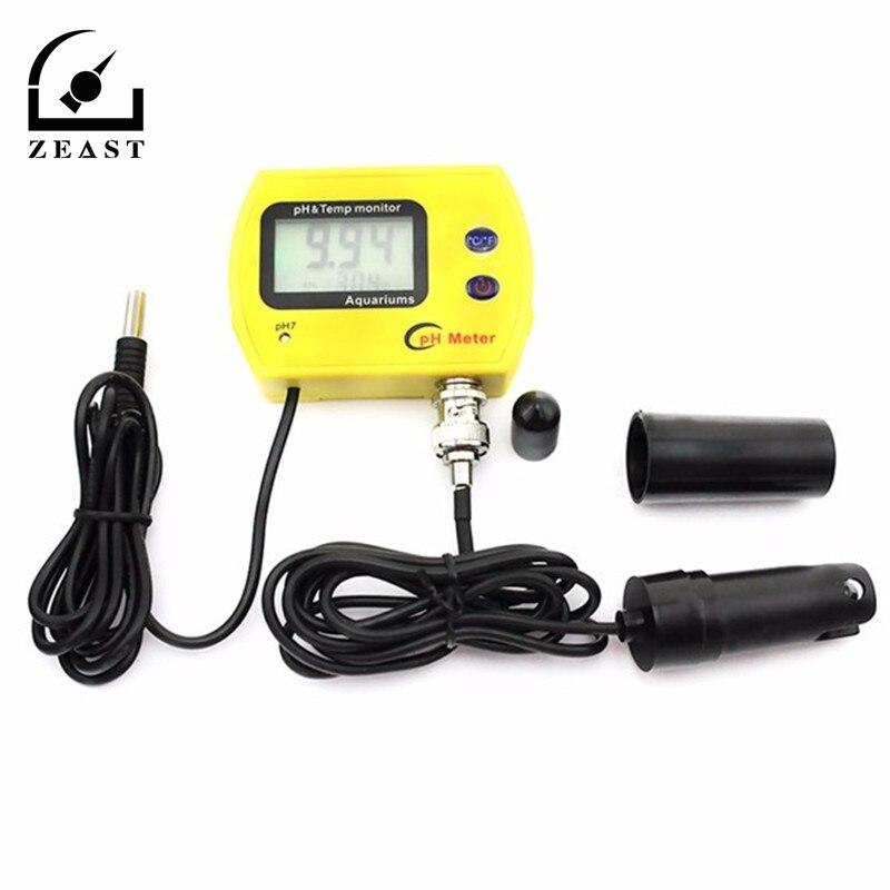 Piscina Aquário Medidor de PH Acidimeter PH-991 Mini Portátil Analisador de Monitor de Qualidade Da Água pH & Temp com backlight