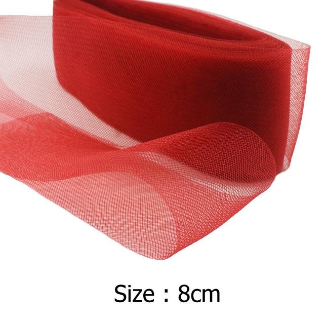 """[IuBuFiGo] 3.1 """"8 cm płaskie zwykły włosia końskiego Crin krynoliny Braid Mesh dla kobiet chrynolin 100 stoczni/dużo #31 kolor darmowa wysyłka"""
