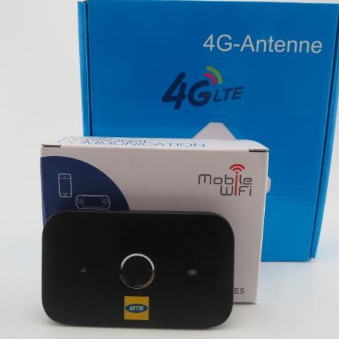 UNLOCKED 4G LTE HUAWEI E5573S-320 Mobile WiFi MODEM + 35DBI DUAL TS9 4G ANTENNA цена и фото