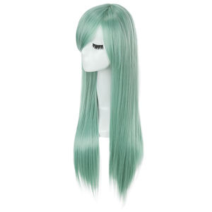 Image 3 - L email wig The Seven Deadly Sins Cosplay Wigs Elizabeth Liones Wig Long Green Straight Women Synthetic Hair Cosplay Wig