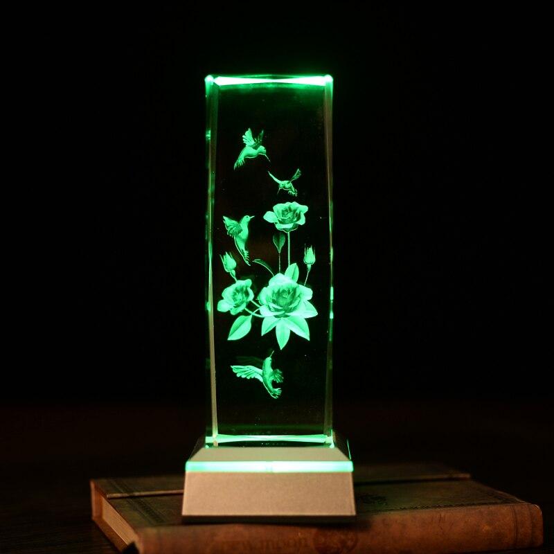 WoodPecker ziedu lāzers galda lampās Amazing 3D Night Light Baby - Nakts gaismas - Foto 2