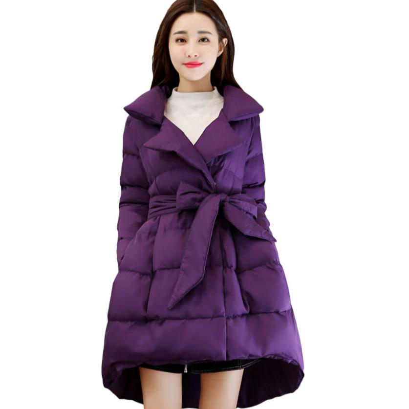 Bow Jacket   Parkas   For Women Winter Coat Down   Parkas   Long coat