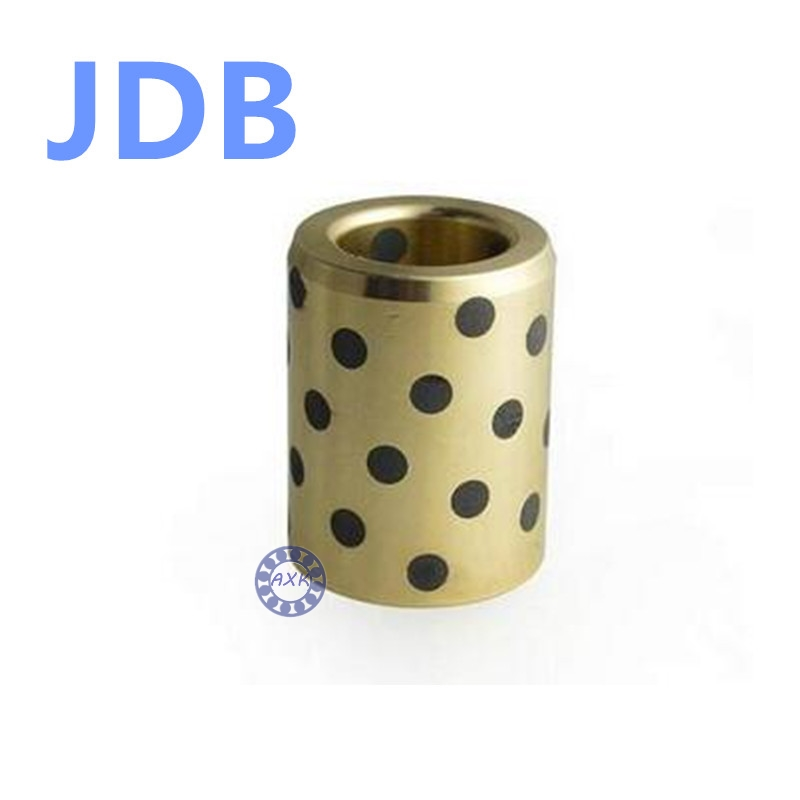 Graphite Lubricating Brass Bearing Bushing Sleeve Oilless JDB303820 JDB303825 JDB303830 JDB304035 JDB304020 JDB304025 JDB304030 jdb 406080 copper sleeve the same size of lm12 linear solid inlay graphite self lubricating bearing