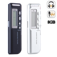 Portable Black 8G USB Digital Audio Voice Recorder Long Working Time Recorder High Definition Mini MP3