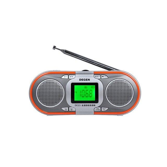 Degen DE23 Радио FM-stereo/MW/SW DSP Всемирный Оркестр Приемник Mp3-плеер Портативный Приемник Y0117H