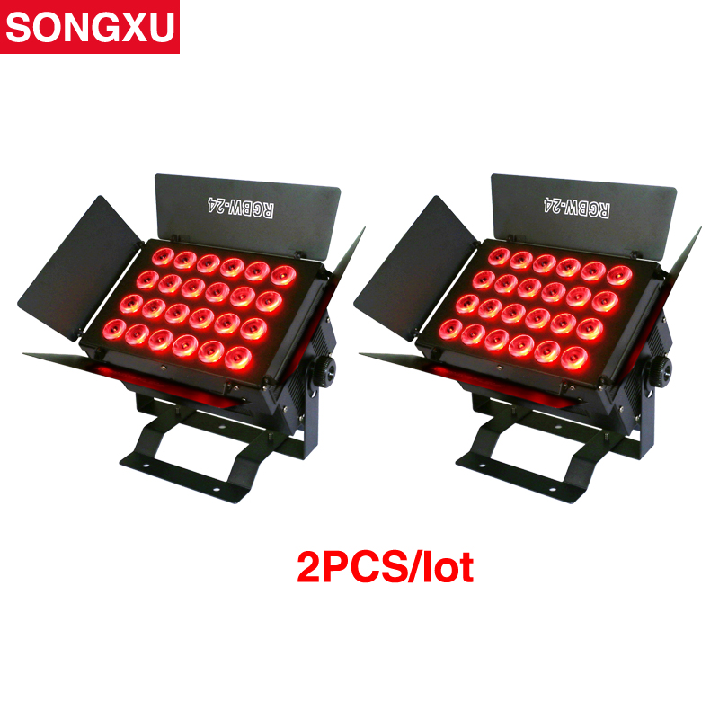 SONGXU 2pcs a lot 24x12W RGBW 4 IN1 LED Wall Washer Light Square Flood Film television