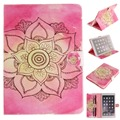 New Kid Cases for iPad Air 2 Pink Flower Flip Folio PU Leather Cover Case for iPad Air 2 iPad 6 Conque Capa with Card Slot