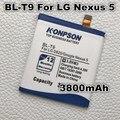 3800 mah bl-t9 bateria bateria bateria do telefone móvel para lg google nexus 5 nexus g d820 d821 nexus5 e980 megalodon d8