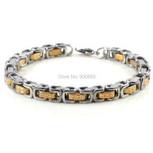 6Pcs/lot 22cm Gold Silver Stainless Steel Chain Bracelet for Men 316L Charm Woman Cuff Bangle Wristband
