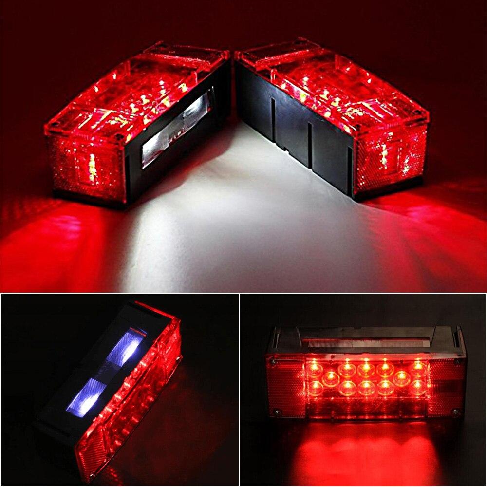 1 пара светодиодные задние фонари левый правый погружной Красный трейлер остановки поворот задние фонари