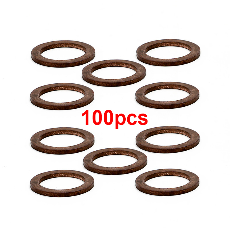 100 X Oil Drain Plug Washers gasket kit 14X20X1.5 For many Mercedes BENZ 2016 - 2017 Replace 007603-014106 image